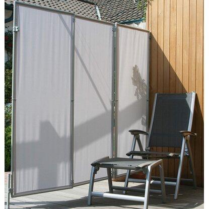 floracord paravent sicht und windschutz hell silbergrau 210 cm x 170 cm kaufen bei obi. Black Bedroom Furniture Sets. Home Design Ideas