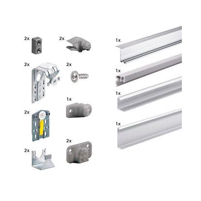 hettich topline m komplett set f r 2 t ren 35 kg aluminium. Black Bedroom Furniture Sets. Home Design Ideas