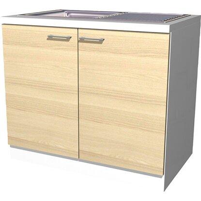 flex well exclusiv sp lenunterschrank akazia 100 cm akazie nachbildung wei kaufen bei obi. Black Bedroom Furniture Sets. Home Design Ideas