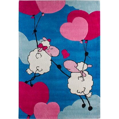 Teppich Lovely Sheep Blau 100 cm x 160 cm