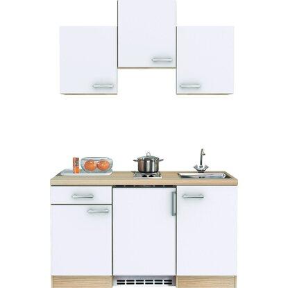 flex well exclusiv k chenzeile abaco 150 cm perlmutt gl nzend akazie kaufen bei obi. Black Bedroom Furniture Sets. Home Design Ideas