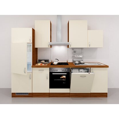 flex well exclusiv k chenzeile sienna 280 cm creme. Black Bedroom Furniture Sets. Home Design Ideas