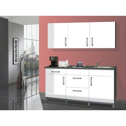 menke k chenzeile rack time 1 wei hochglanz 180 cm kaufen bei obi. Black Bedroom Furniture Sets. Home Design Ideas