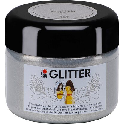 Marabu Glitter transparent 225 ml Platin