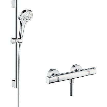 Hansgrohe Croma Select S Brausesystem Aufputz Vario Ecostat Thermost., Brausest.