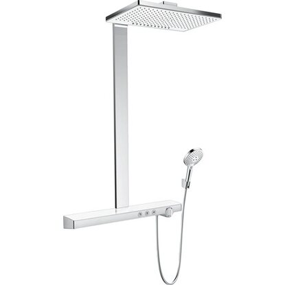 Hansgrohe Rainmaker Select Showerpipe 460 2jet mit Thermostat Weiß-Chrom