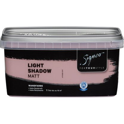 Signeo bunte Wandfarbe matt Light Shadow 1 l