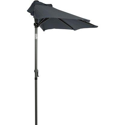 Siesta Sonnenschirm für Balkon halbrund Grau kaufen bei OBI
