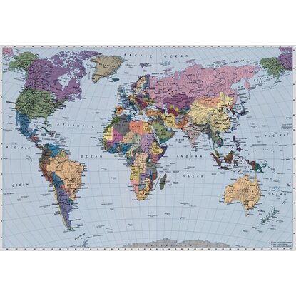 Komar Fototapete World Map 270 cm x 188 cm