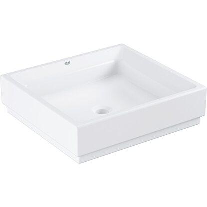 grohe aufsatzwaschbecken cube keramik 50 cm alpinwei hahnloch berl pureguard kaufen bei obi