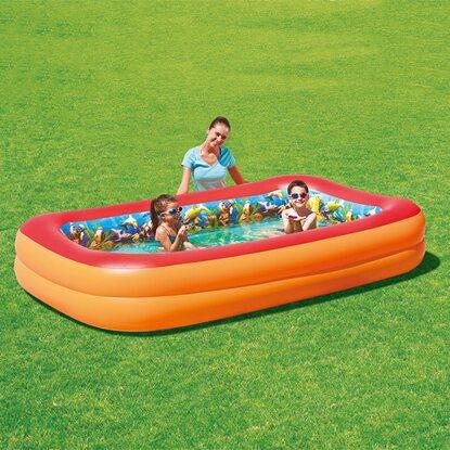 Swimming pool 3 d wirkung 262 cm x 175 cm x 51 cm kaufen for Obi planschbecken