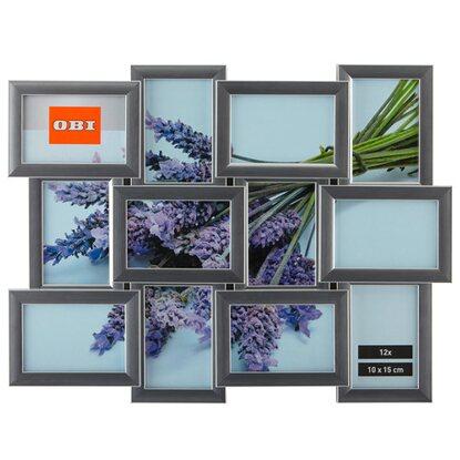 obi multi bilderrahmen f r 12 bilder silber kaufen bei obi. Black Bedroom Furniture Sets. Home Design Ideas