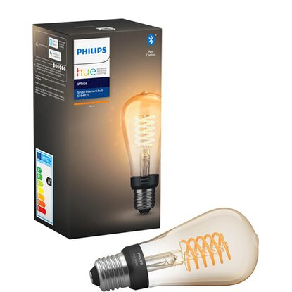 Philips Hue LED-Lampe Filament ST19 White E27 Einzelpack 9 W Bluetooth EEK: A+