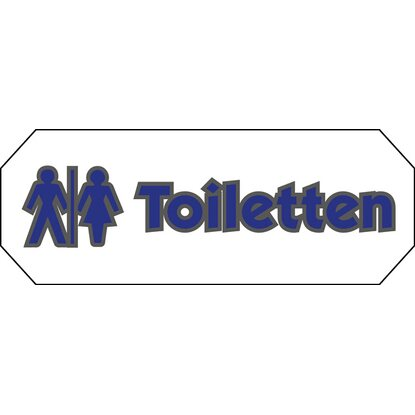 "Doming Aufkleber ""Toiletten"" 10,7 cm x 4 cm"