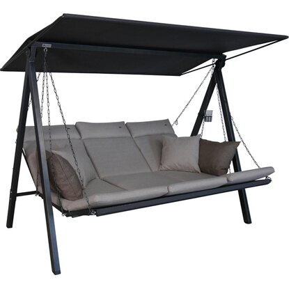 Angerer Hollywoodschaukel 3-Sitzer Lounge Smart Sand