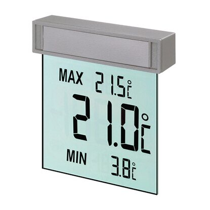 TFA Digitales Fenster-Thermometer Vision Grau