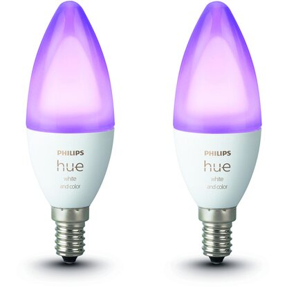 Philips Hue LED-Lampe White & Color Ambiance E14/5,3 W, 470 lm 2er-Pack