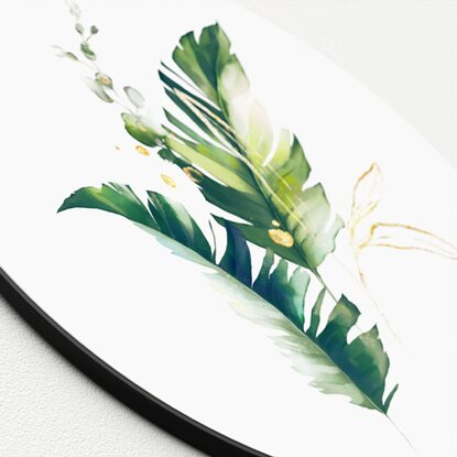 Glasbild Watercoloured Palm Leaves I 20 cm x 20 cm