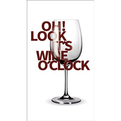 Deco Panel Wine O'Clock 27 cm x 15 cm