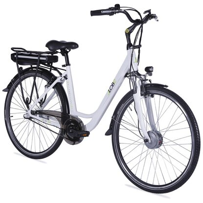 "Llobe E-Bike 28"" Alu City Bike Metropolitan Joy Weiß 36 V/8 Ah"