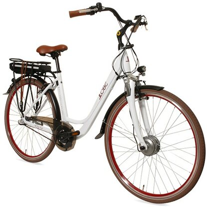 "Llobe E-Bike 28"" Alu City Bike Metropolitan Joy Modernwhite 36 V/13 Ah"