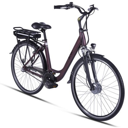 "Llobe E-Bike 28"" Alu City Bike Metropolitan Joy Bordeauxrot 36 V/8 Ah"