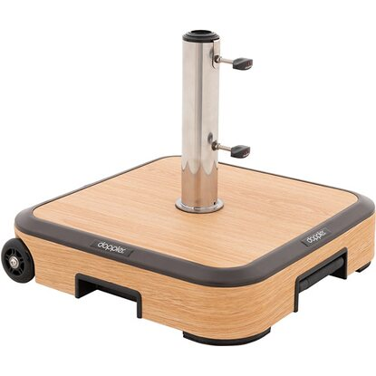 Doppler Alu-Wood Trolley Sockel 50 kg Holzoptik