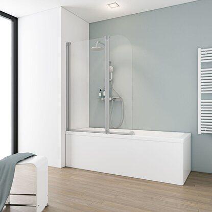 schulte badewannenaufsatz 2 teilig echtglas alunatur. Black Bedroom Furniture Sets. Home Design Ideas