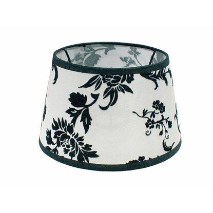 lampenschirm trend seide topfform schwarz wei kaufen bei obi. Black Bedroom Furniture Sets. Home Design Ideas