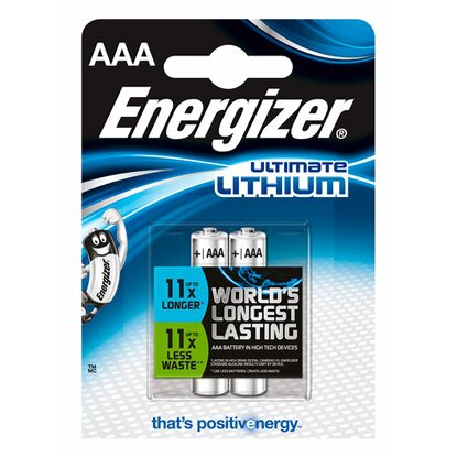 Energizer Ultimate Lithium Batterie AAA Micro 2 Stück