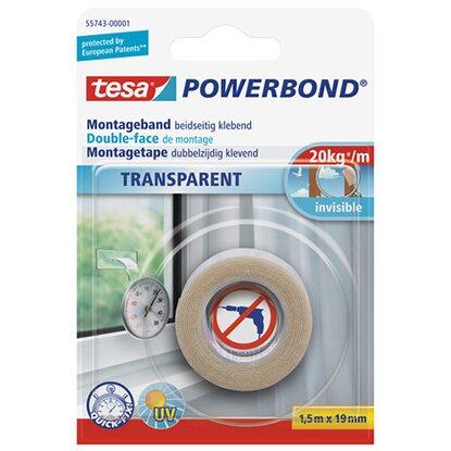 tesa powerbond montageband transparent 1 5 m x 19 mm kaufen bei obi. Black Bedroom Furniture Sets. Home Design Ideas