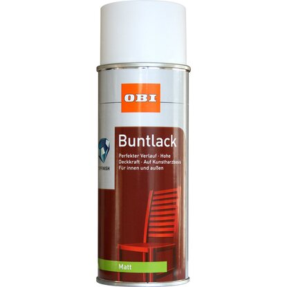OBI Buntlack Spray Reinweiß matt 400 ml