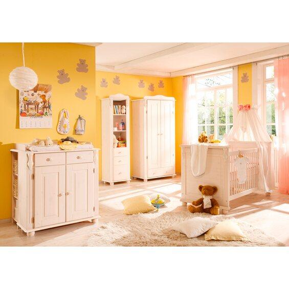 babyzimmer set lara 5 teilig kiefer massiv wei kaufen bei obi. Black Bedroom Furniture Sets. Home Design Ideas