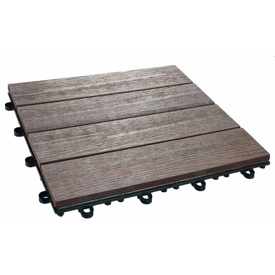 klick fliese wpc holzstruktur optik 30 x 30 cm 6 st ck kaufen bei obi. Black Bedroom Furniture Sets. Home Design Ideas