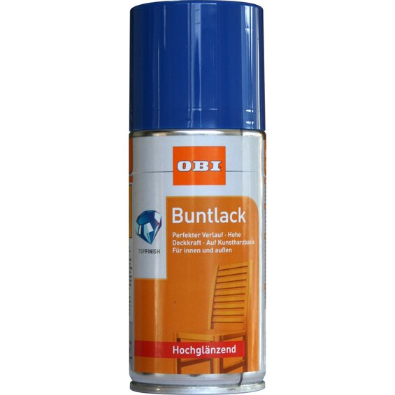 obi buntlack spray enzianblau hochgl nzend 150 ml im obi online shop. Black Bedroom Furniture Sets. Home Design Ideas