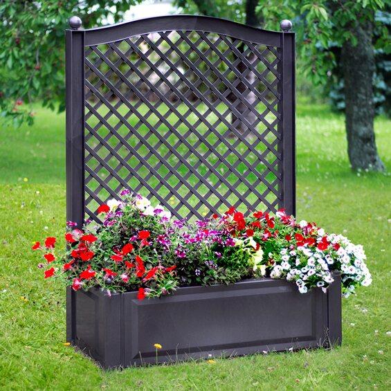 khw pflanzkasten gro mit spalier anthrazit kaufen bei obi. Black Bedroom Furniture Sets. Home Design Ideas