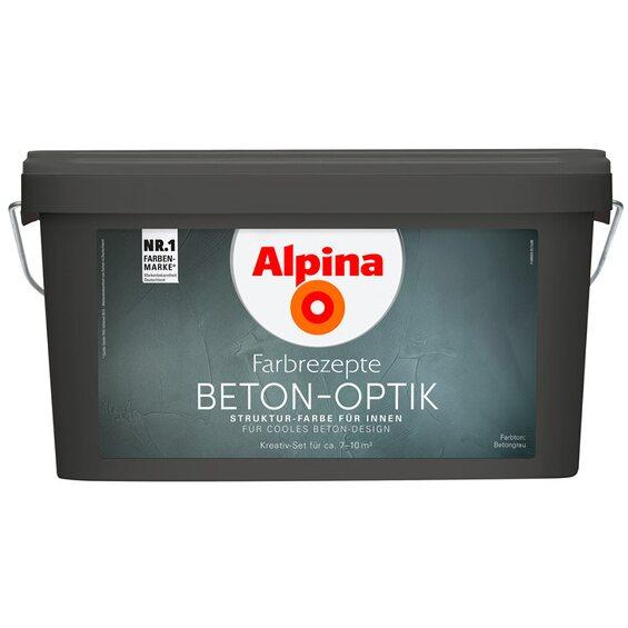 alpina farbrezepte beton optik komplett set im obi online shop. Black Bedroom Furniture Sets. Home Design Ideas