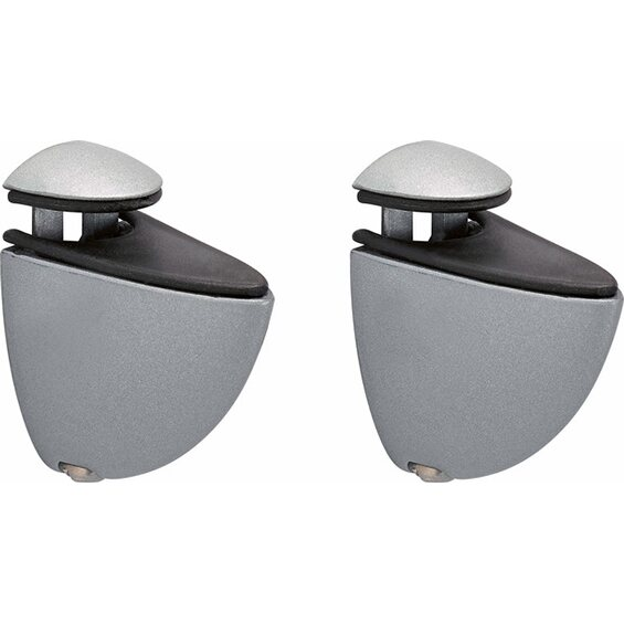 befestigungsclip mini f r glas mattsilber 2 st ck im obi online shop. Black Bedroom Furniture Sets. Home Design Ideas