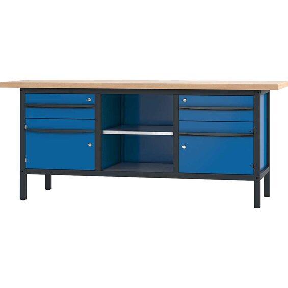 pador werkbank 2 t ren 2 schubladen 200 cm im obi online shop. Black Bedroom Furniture Sets. Home Design Ideas