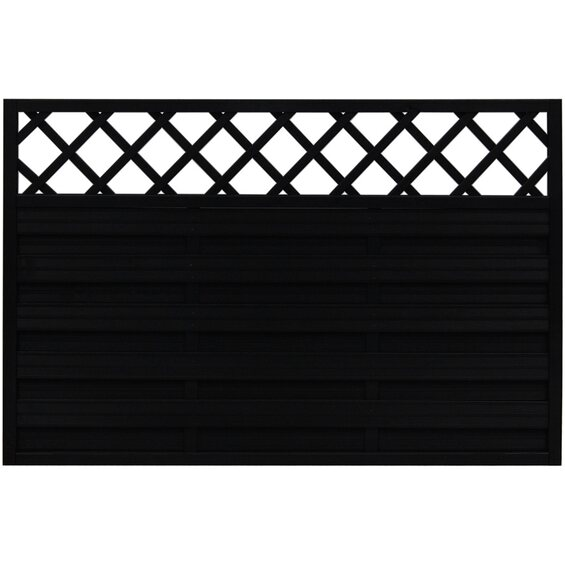 sichtschutzzaun element country anthrazit 120 cm x 180 cm. Black Bedroom Furniture Sets. Home Design Ideas