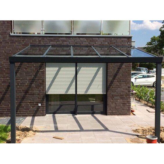 terrassen berdachung eek a struktur anthrazit vs glas 300 x 250 cm im obi online shop. Black Bedroom Furniture Sets. Home Design Ideas