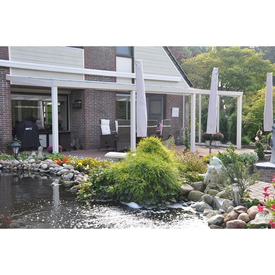 terrassen berdachung wei vs glas 700 x 350 cm im obi online shop. Black Bedroom Furniture Sets. Home Design Ideas