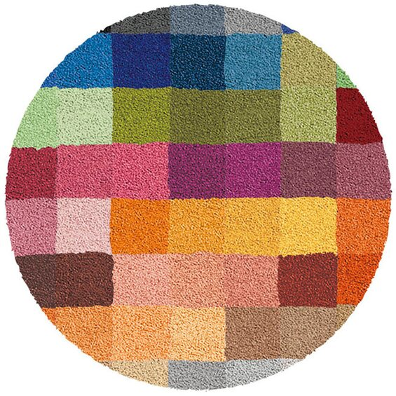 kleine wolke badteppich cubetto 90 cm rund multicolor. Black Bedroom Furniture Sets. Home Design Ideas