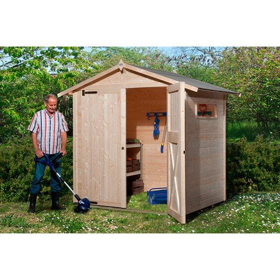 obi holz gartenhaus kompakt b 200 cm x 150 cm im obi. Black Bedroom Furniture Sets. Home Design Ideas