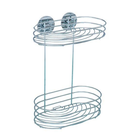 wenko wandregal turbo loc befestigen ohne bohren chrom gl nzend rund im obi online shop. Black Bedroom Furniture Sets. Home Design Ideas
