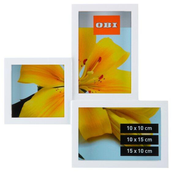 obi multi bilderrahmen f r 3 bilder wei im obi online shop. Black Bedroom Furniture Sets. Home Design Ideas