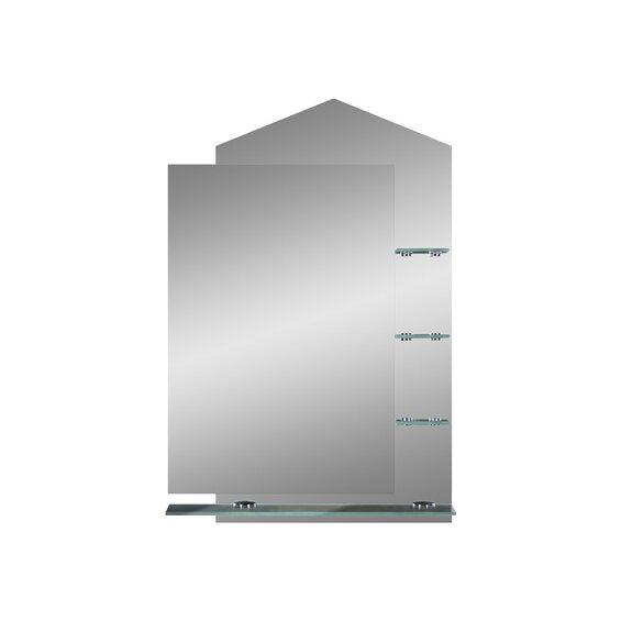 glas auf glas spiegel lana mit glasablagen im obi online shop. Black Bedroom Furniture Sets. Home Design Ideas