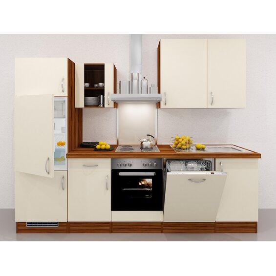 flex well exclusiv k chenzeile sienna 280 cm creme zwetschge nachbildung kaufen bei obi. Black Bedroom Furniture Sets. Home Design Ideas