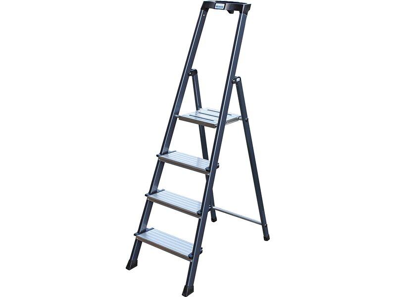 krause securo stufen steh leiter eloxiert 4 stufen kaufen bei obi. Black Bedroom Furniture Sets. Home Design Ideas