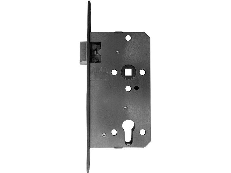 Korridorschloss Für Profilzylinder Gefälzt Din Links Silber Lackiert